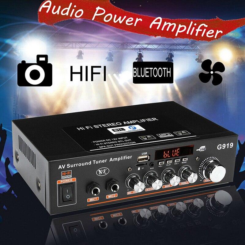 360W G919 Mini amplificateur Audio Bluetooth amplificateur de puissance stéréo FM SD Hifi 2CH ampli lecteur de musique amplificateur de puissance voiture 12V 220V
