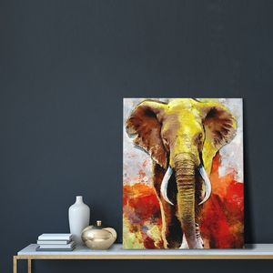 Elephant Frameless Painting By Numbers Animals On Canvas Pictures By Numbers Home Decoration DIY Minimalism Style
