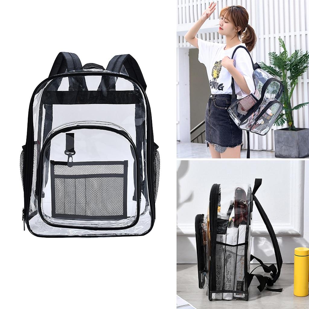 Clear PVC Backpack Transparent Bag Work Concert Security Travel College