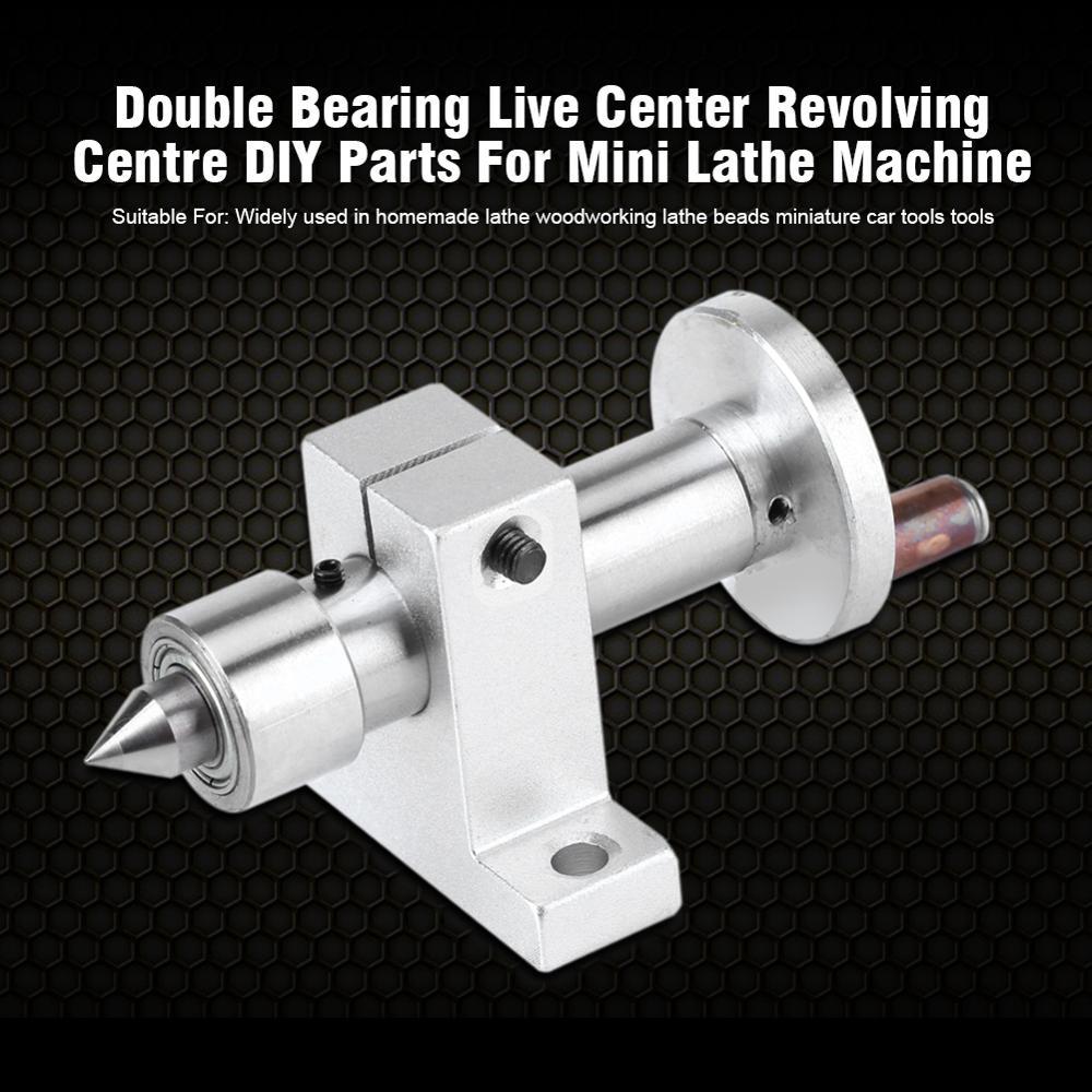 Double Bearing Live Center Lathe torna  Metal Revolving 2pcs Wrenches for DIY Mini Woodworking Lathe torna Machine mini tokarka
