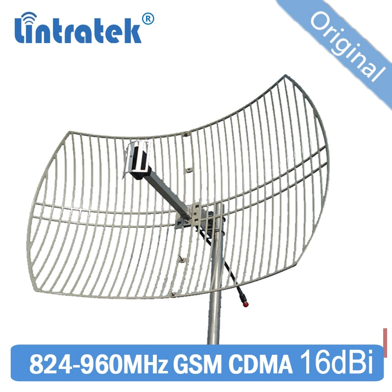 Antena direcional exterior da rede parabólica cdma gsm de 16dbi 824 960 850 mhz para o impulsionador móvel do sinal de 900 mhz