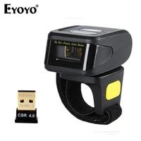 eyoyo 1d barcode scanner bluetooth ring wireless mini finger barcode reader 1d barcode scanner android ios windows 2d scanner