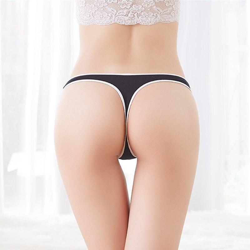 Pantalones cortos de Yoga mujeres ropa interior de algodón sin costura Sexy G String bragas de mujer Bragas íntimas Tangas pantalones cortos de entrenamiento 2020