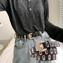 New Ladies Casual Belt Jeans Decoration Personality Wild Punk Grommet Women Belt Trend Fashion Acces