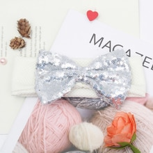 Miss Cute shiny Elastic Kids Headband Knot Bows Headwraps Baby Girls Casual Comfortable Headwear Gif