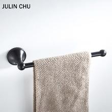 Toallero negro de 30cm montado en la pared antiguo creativo toallero de baño cromo blanco grandes soportes de papel higiénico de cocina latón