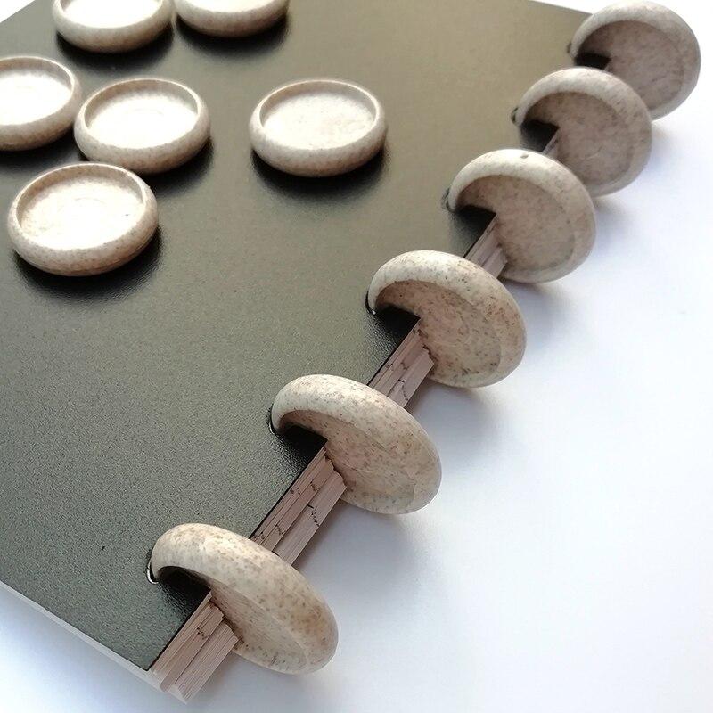 12 stücke Weizen Stroh Ring Disc Binder Abbaubar Pilz Loch Notebook Discs Für Planer Tagebuch Buch Disc Büro Bindung Schnalle 24m