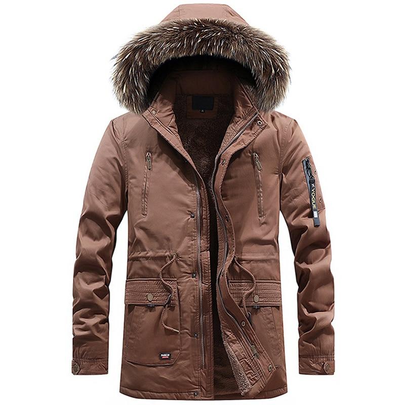 Gran oferta, Parka de invierno para hombre, chaqueta gruesa y cálida con...