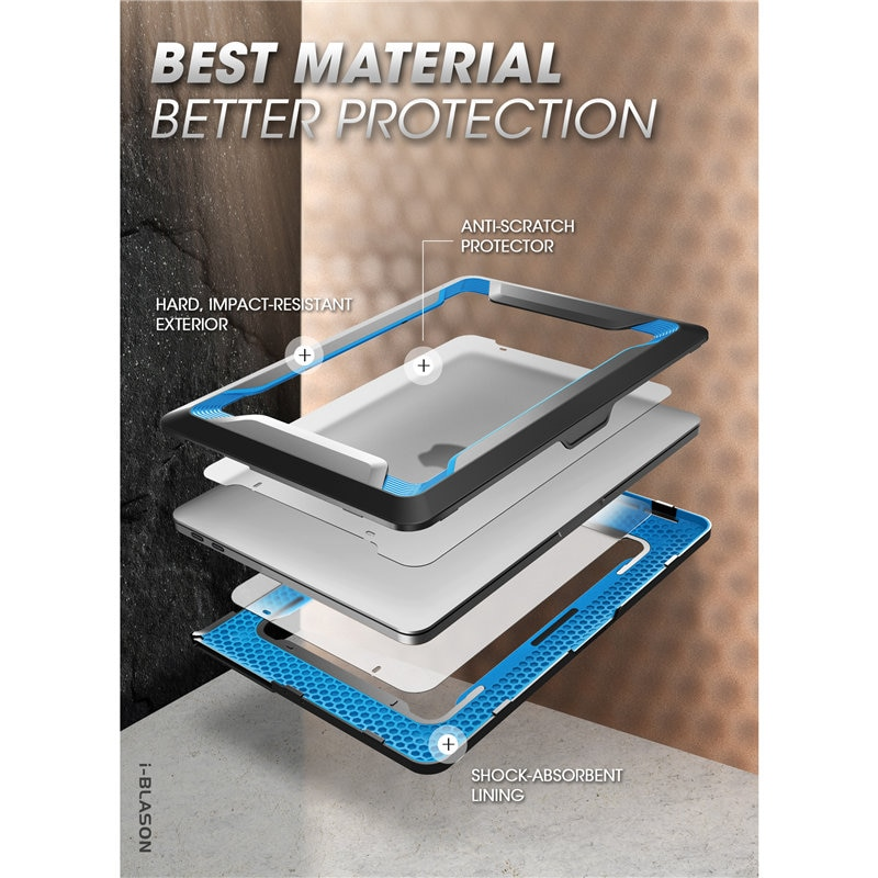 "Купить с кэшбэком I-BLASON For MacBook Pro 16 Case (2019) Rugged Shockproof Cover with TPU Bumper For MacBook Pro 16"" with Touch Bar & Touch ID"