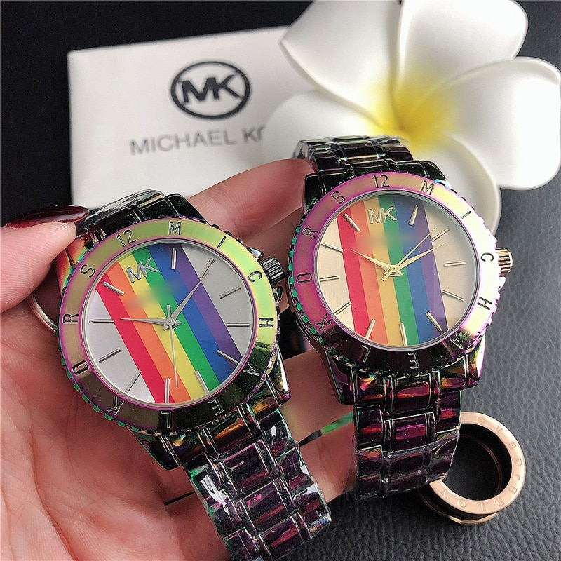 YUNAO Jewelry Popular Colorful Steel Band Watch Ladies Fashion New Simple Business Ladies Watch Hot-Selling Watch enlarge