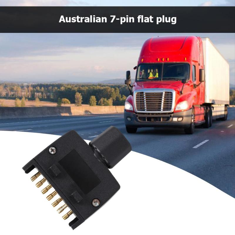 7 Pin AU плоский мужской прицеп розетка разъем адаптер для караван прицепа обеспечить подключение индикаторной боковой лампы