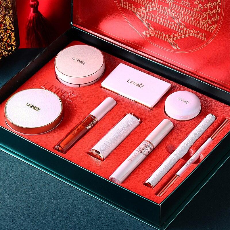 Rosemary Makeup Set Carved Lipstick Concealer Makeup Loose Powder Eyebrow Pencil Eyeliner  eyeshadow kit  wholesale makeup