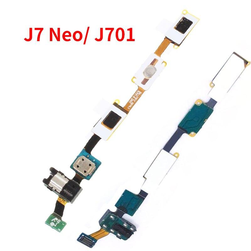 Botón de inicio teclado Sensor de Jack de Audio de auriculares Flex Cable para Samsung Galaxy J7 Nxt J701 J701F J7 Neo