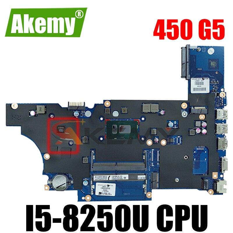 Akemy L00824-601 L00824-001 da0x8cmb6e0 placa-mãe do portátil para hp probook 450 g5 notebook i5-8250U totalmente testado