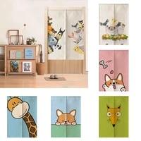 cute cartoon children room door curtain half panel curtain home decoration partition curtain