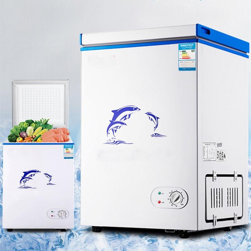 Mini congelador para geladeira, freezer vertical comercial e doméstico, contêiner 108l