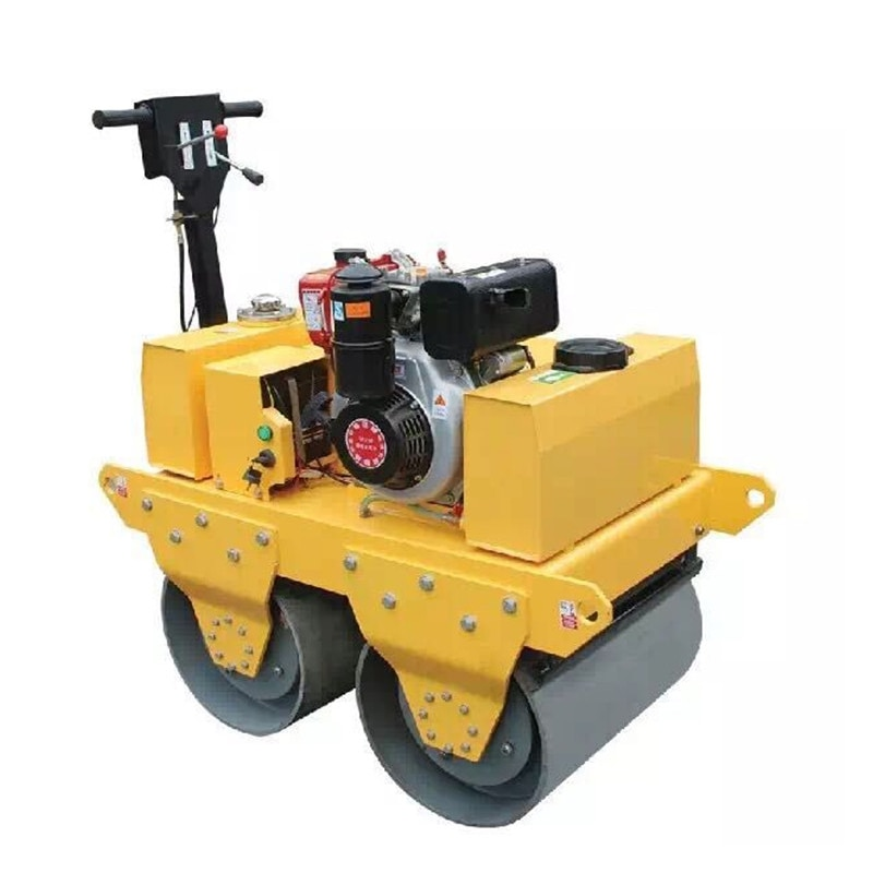 Hydraulic Actuator Adjustable Armrest New Double Drum Ride on Road Roller Compactor Machine Garbage Compactor