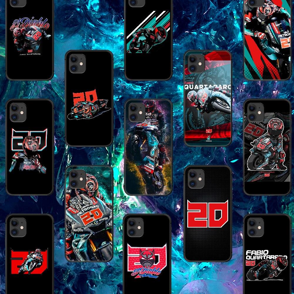AliExpress - Fabio Quartararo 20 Motorcycle Phone Case For IPhone 4 4s 5 5S SE 5C 6 6S 7 8 Plus X XS XR 11 12 Mini Pro Max 2020 black Bumper