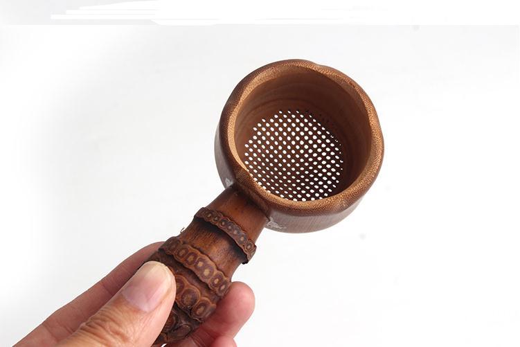 مصفاة شاي الخيزران الطبيعية ، أدوات التدريب ، مرشح لتخمير الشاي ، SN2290