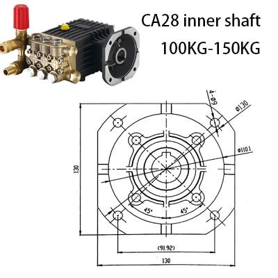 High pressure cleaner pump head assembly 380V/220V commercial / household car wash shop high power copper washer car head enlarge