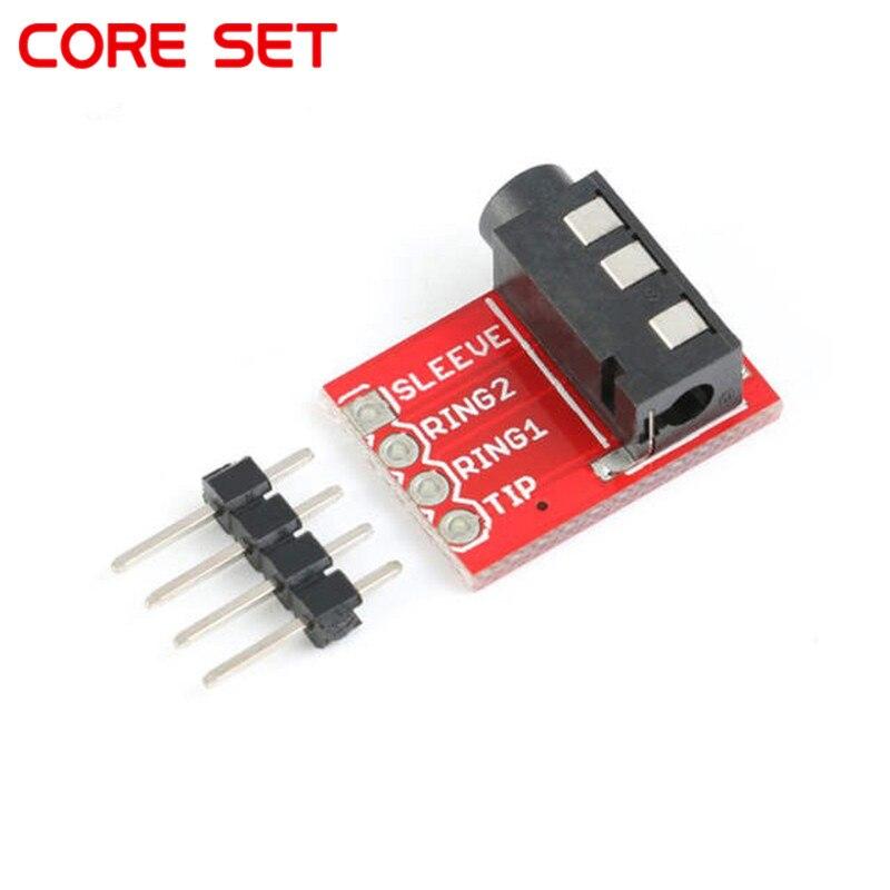 3,5mm conector Jack estéreo de plástico + Metal TRRS auriculares toma de audio Placa de extensión módulo conector jack de 3,5mm