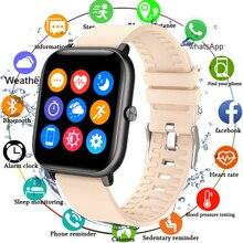 Полностью сенсорные часы, умные часы для мужчин и женщин, Монитор кислорода в крови, умные часы, фитнес трекер для измерения сердечного ритма, спортивные часы для Android IOS