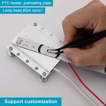 LED Remover เครื่องทำความร้อนชิปการรื้อถอนเชื่อม BGA สถานี PTC แยกแผ่น220V 110V 270W องศา