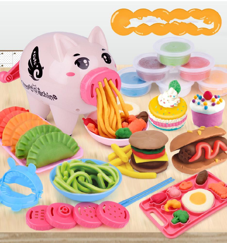 Hobbylane niños simulan plastilina en forma de cerdo Pasta máquina juego casa rompecabezas juguete
