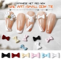 10 pieces of nail art matte bow tie small bow tie 3d three dimensional black white nail art accessories diy nail art accessories