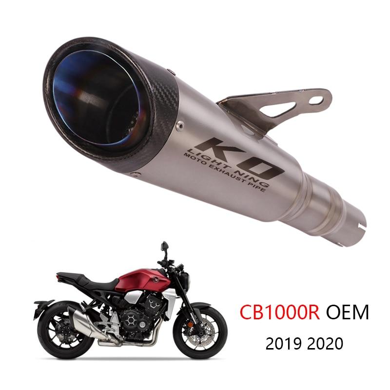 كاتم صوت العادم الانزلاقي ، بدون DB Killer ، احتياطي ، محفز من سبائك التيتانيوم ، لهوندا CB1000R 2019 2020