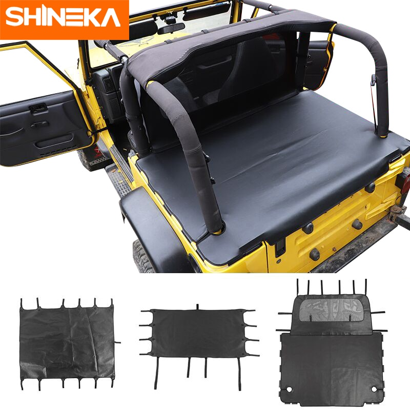Car Leather Soft Roof Top Anti UV Sun Shade For Jeep Wrangler TJ 1997-2006 Car Trunk Pet Leather Iso