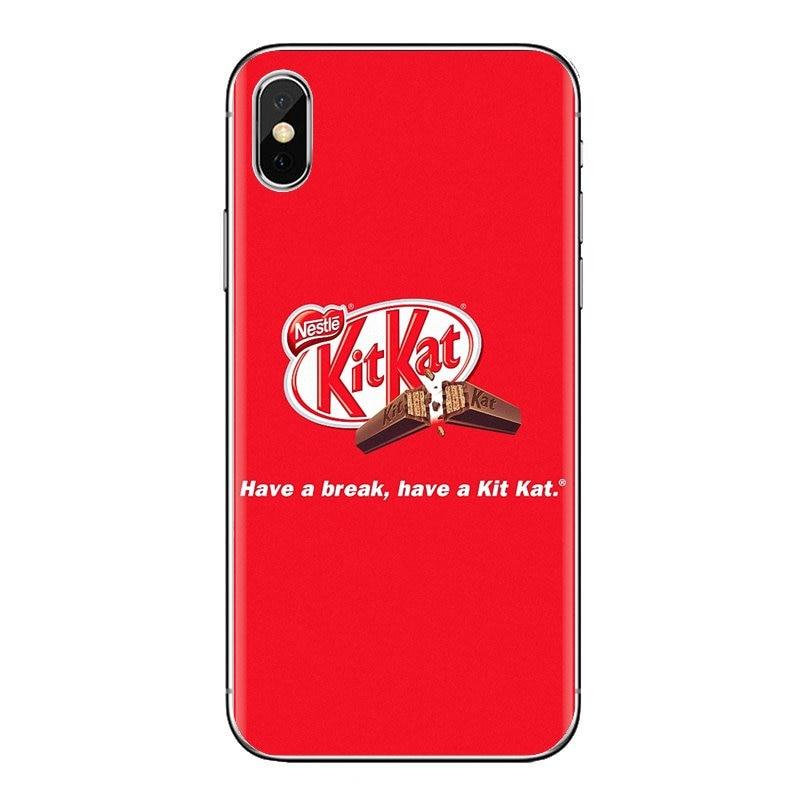 Transparente carcasa de TPU para Huawei G7 G8 P7 P8 P9 P10 P20 P30 Lite Mini Pro P Smart Plus 2017 2018 2019 kit kat chocolate kitkat
