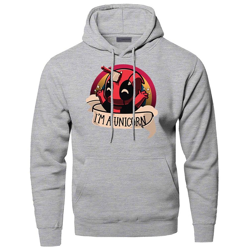 Funny Hoodeis Deadpool Sweatshirts Men Wade Winston Wilson Superhero Hooded Sweatshirt Hoodie Winter Autumn Dead Pool Streetwear