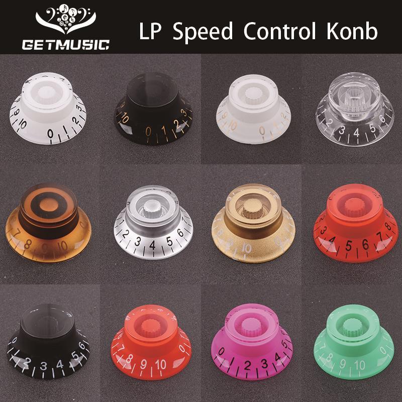 2 шт многоцветная LP электрическая гитара регулятор громкости тональная ручка верхняя шляпа прямая гитара регулятор скорости пластиковая ручка