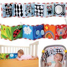 Baby Toys Crib Bumper Newbron Cloth Book Infant Rattles Knowledge Around Multi-Touch Colorful Bed Bu