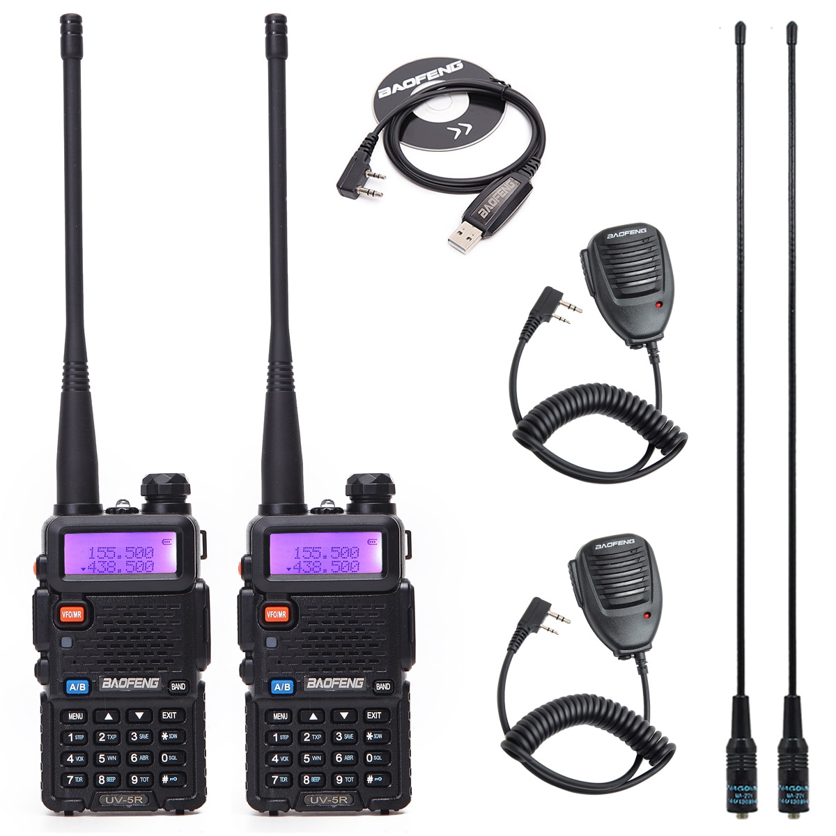 1/2PCS BaoFeng UV-5R Dual Band VHF/UHF136-174Mhz&400-520Mhz Walkie Talkie Two way radio Baofeng Handheld UV5R Ham Portable Radio