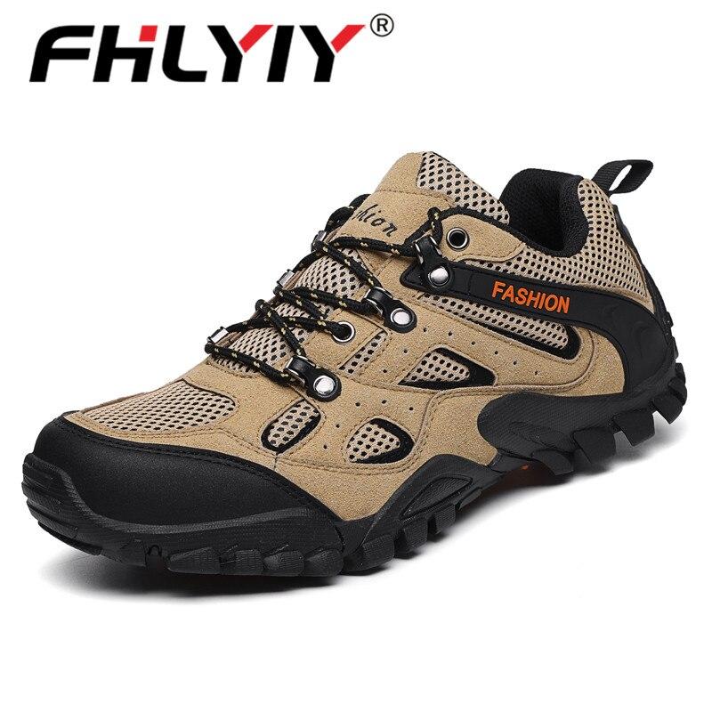 Fhlyiy 2020, nuevos zapatos de senderismo para hombres, zapatos de goma de malla transpirable para exteriores, zapatillas deportivas para hombres, zapatos casuales para hombres, calzado de otoño