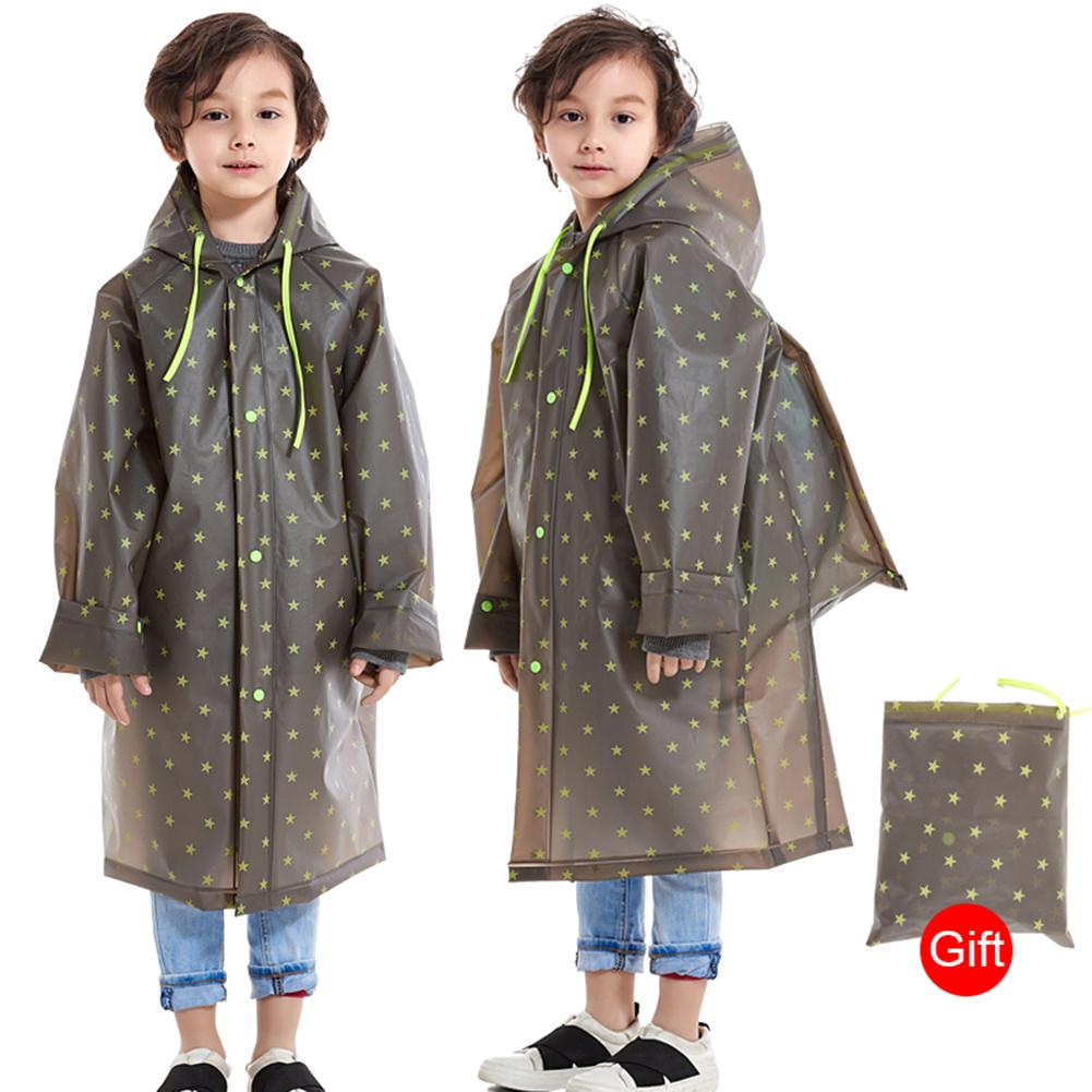 Niños niños piloto Impermeable Poncho EVA con capucha mochila escolar cubierta Impermeable