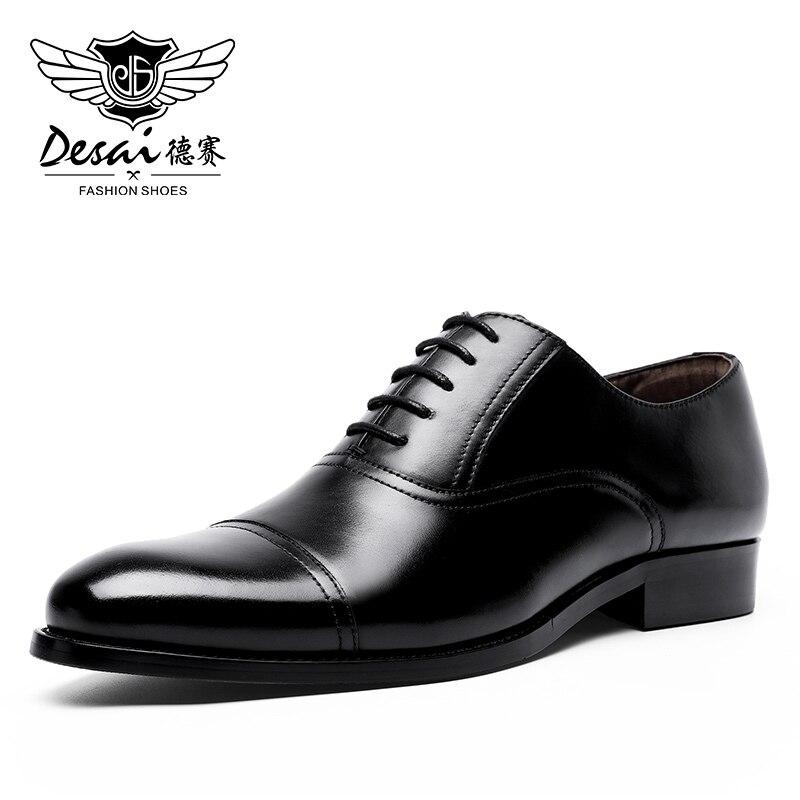 Zapatos de hombre de cuero genuino Desai para vestido de boda zapatos Oxfords al por mayor 2020