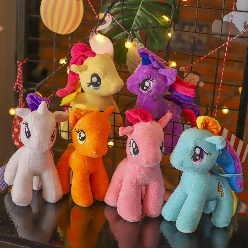 My little pony Recheado pony Amizade Magia Princesa perna Curta rainbow 25 centímetros Action figure boneca de brinquedo bonecas de aniversário dos miúdos presentes