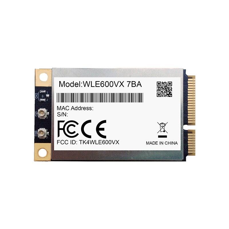كومبيكس WLE600VX-I مع 7AA 7BA 802.11ac/abgn PCI Express بطاقة صغيرة تمديد درجة الحرارة ثنائي النطاق ميمو 2 × 2 كوالكوم Atheros QCA9882