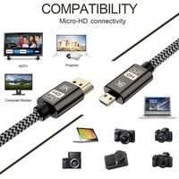 ultra hd hdr adapter supports 3d 8k 60hz micro hdmi compatible adapter for digital cameras camcorders tablets