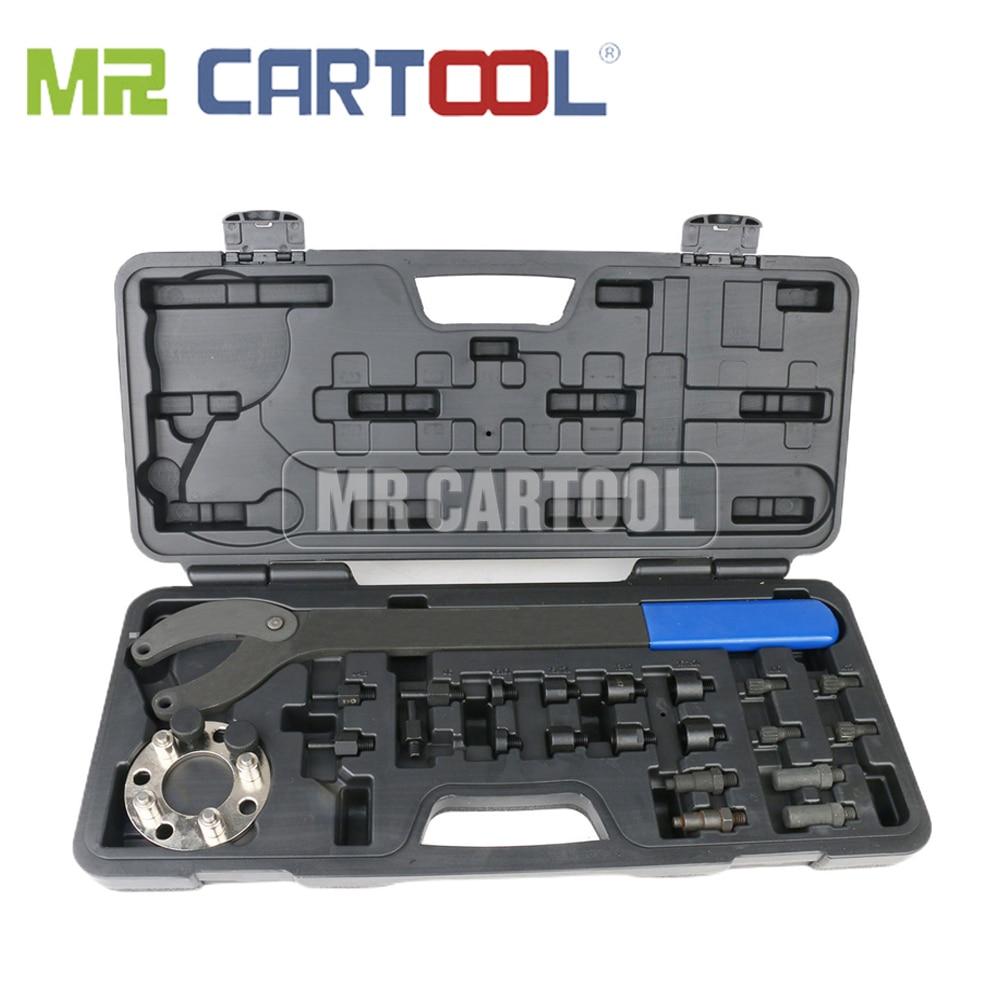 MR CARTOOL-مجموعة أدوات مقبض عمود الكامات ، حامل البكرة ، أداة خاصة قابلة للتعديل ، لـ VW Audi T10172A T10554