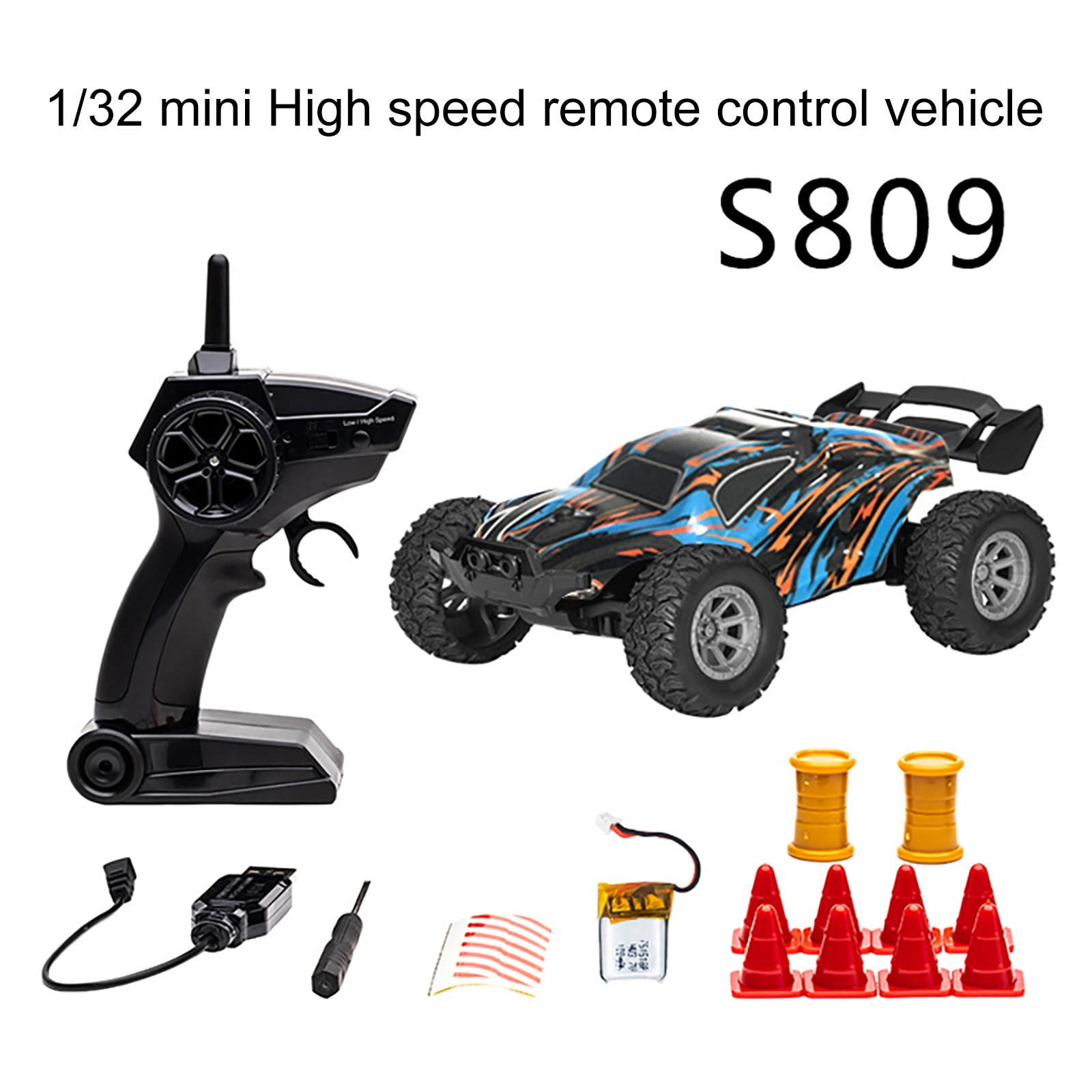 1/32 Remote Control Car 2.4 GHZ High Speed Racing RC Car 4WD  Off Road Vehicle Buggy Toy with 1/2/3 Batteries For Boys Kids Gift enlarge