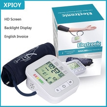 XPIOY Portable LCD Digital Sphygmomanometer Upper Arm Blood Pressure Monitor Home health care Pulse measurement tool