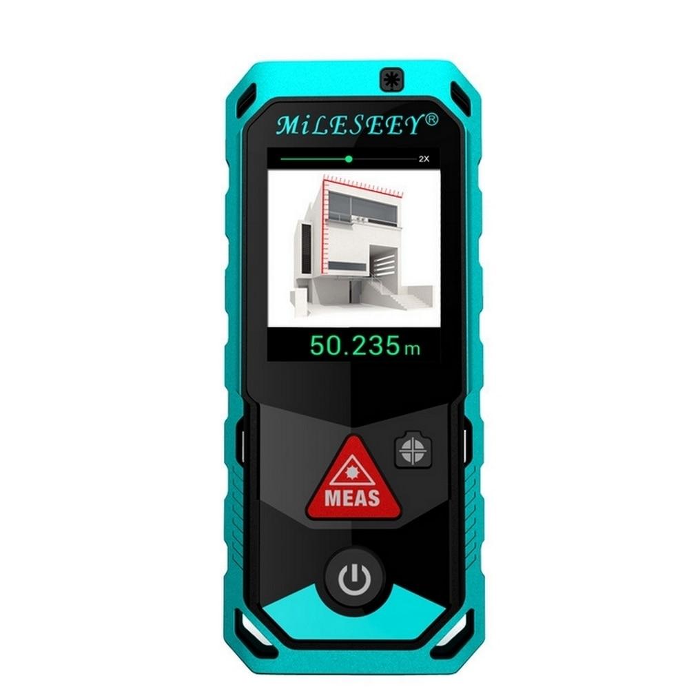 P7 Bluetooth Laser télémètre caméra Point de recherche rotatif 80 m/100 m/150 m/200 M écran tactile Rechargerable Laser Distance mètre