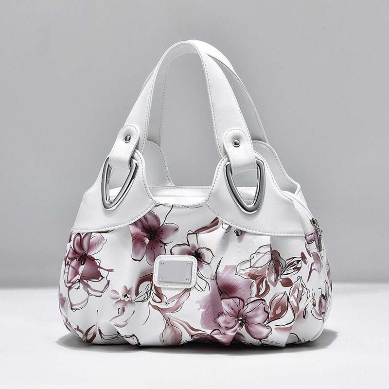 Luxury Handbag Women Printing PU Leather Handle Bag Fashion Brand Lady Tote Big Capacity Shoulder Bag Shopping Purse