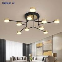 Or luxxy moderne LED lustre eclairage pour salon salle a manger chambre maison deco lampes lumieres dinterieur luminaires Luminaria