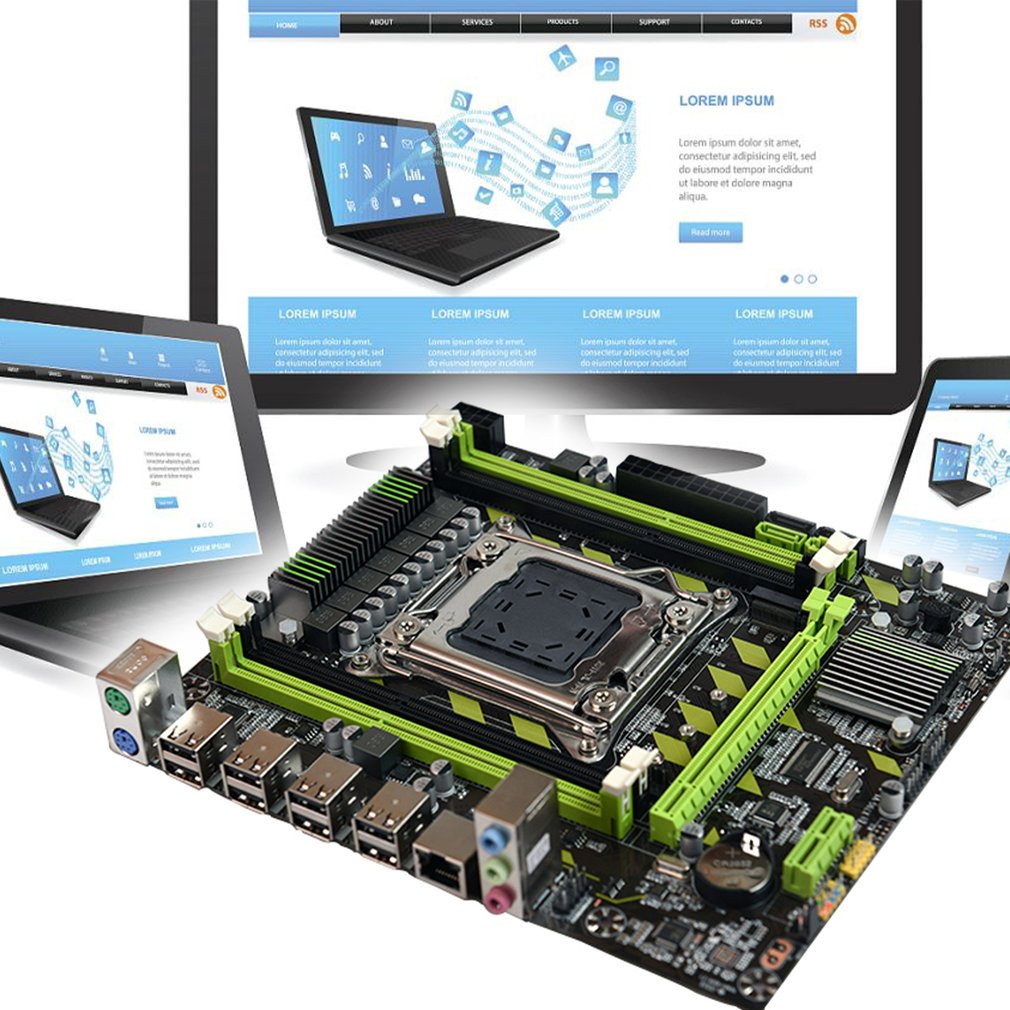 X79G M.2 Motherboard LGA 2011 DDR3 Mainboard for In-tel Xeon E5 Core I7 CPU enlarge