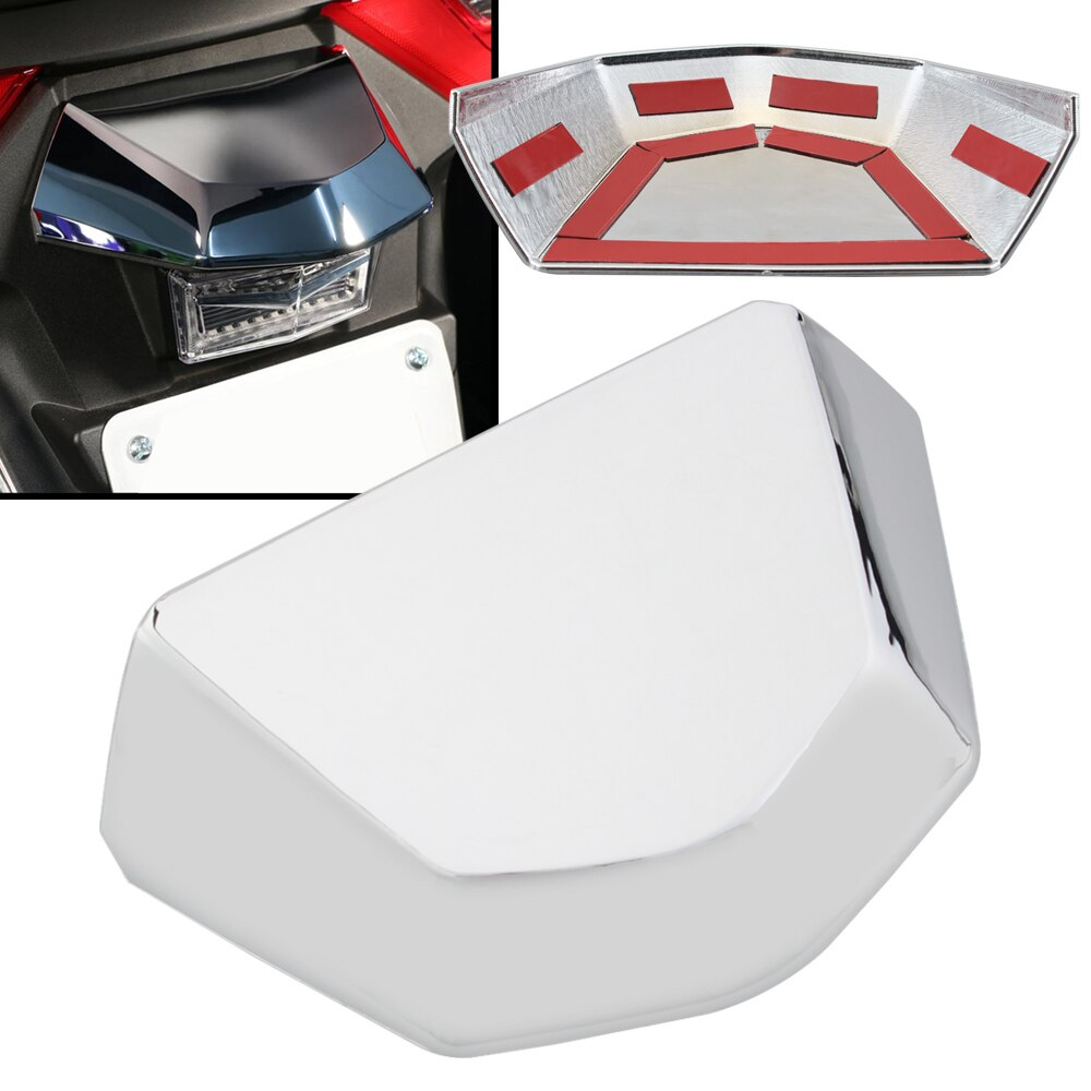 Cubierta de tapa de luz trasera cromada para motocicleta ajuste para Honda Gold wing GL1800 Tour DCT Airbag 2018-2020